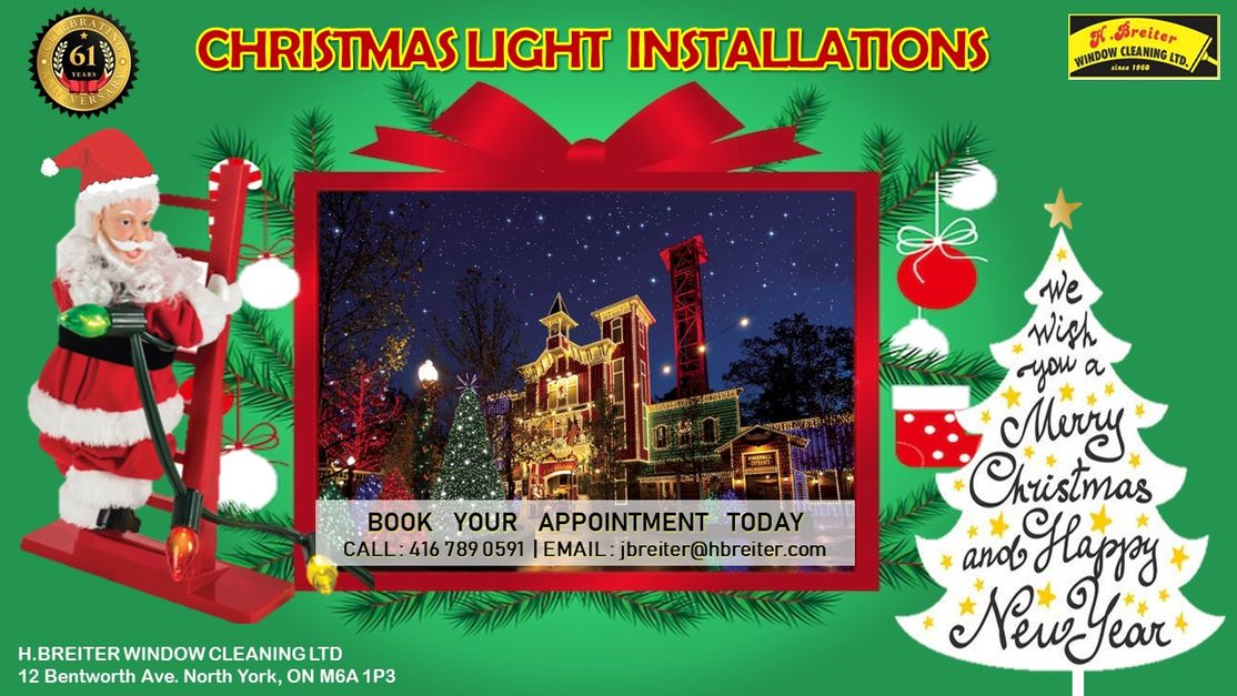 Christmas light installation flyer